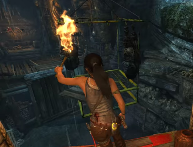 Highlighting where to jump in Tomb Raider