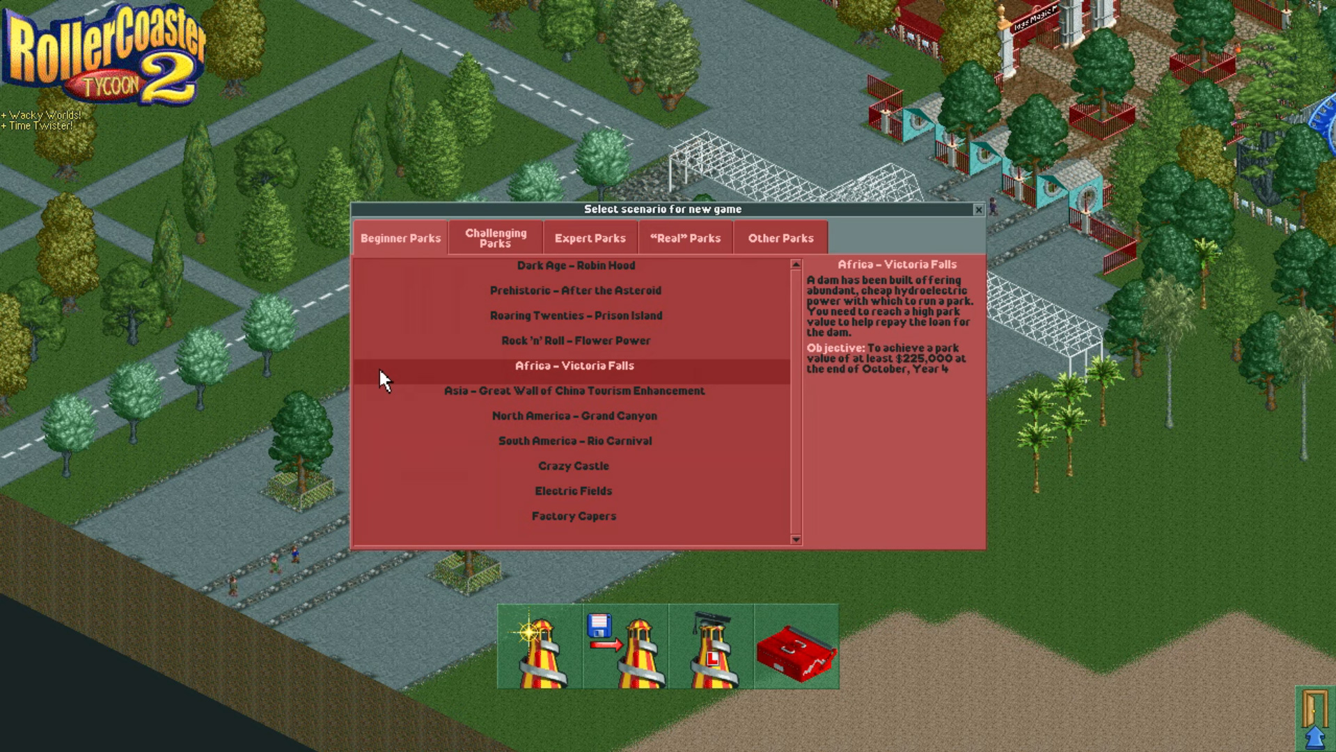 Roller Coaster Tycoon 2 Level Select